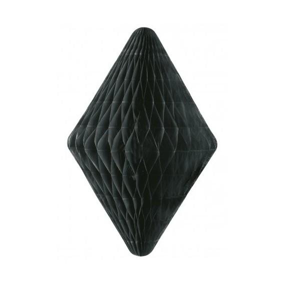 Pompon papier de soie medium - diamant noir