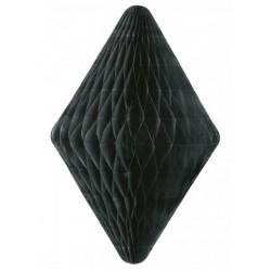 Grand pompon papier de soie - diamant noir