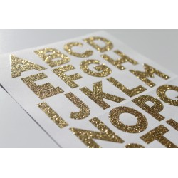 Stickers alphabet glitter