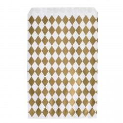 Pochettes papier - losange doré (par 10)
