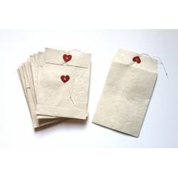 10 enveloppes fermeture coeur