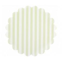 Napperon papier à rayures - vert pâle