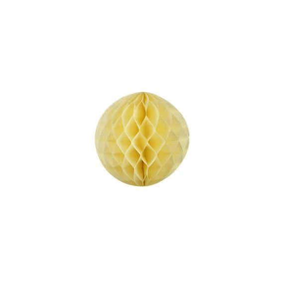boule alvéolée 20 cm - jaune ivoire