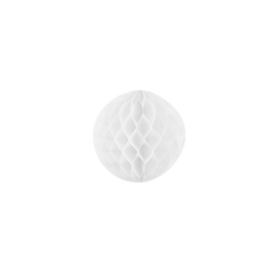 boule alvéolée 20 cm - blanc