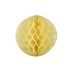 boule alvéolée 30 cm - jaune ivoire