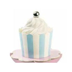 24 Caissettes à cupcake - Medium - Bleue