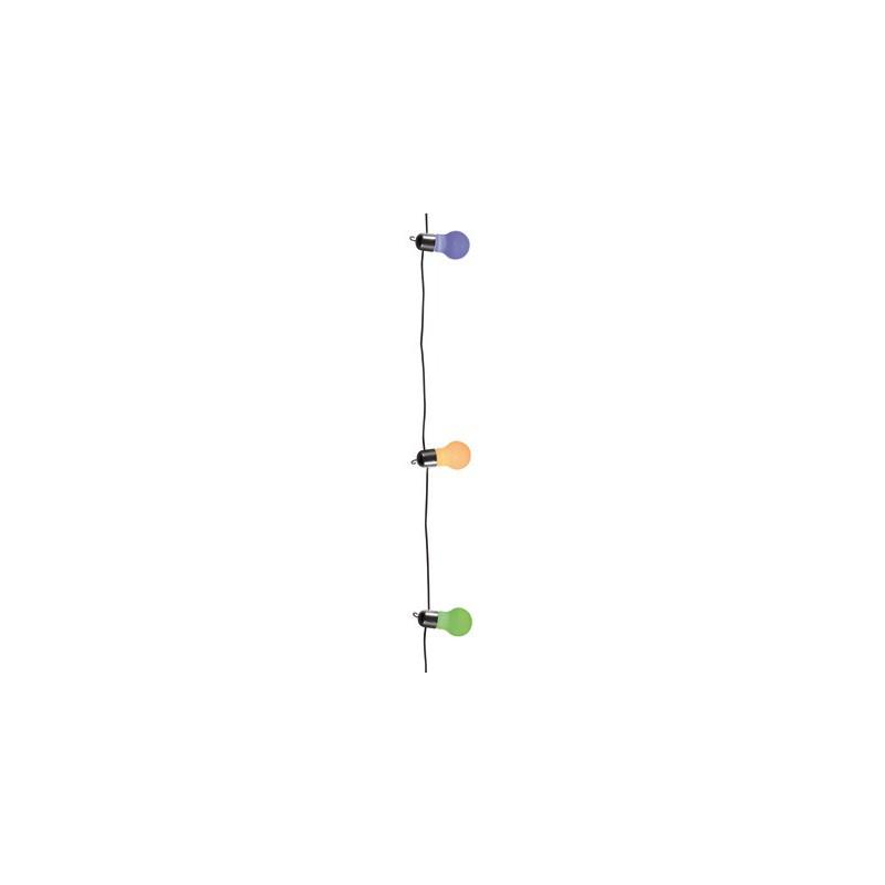 guirlande guinguette lumineuse ampoules multicolores. Black Bedroom Furniture Sets. Home Design Ideas