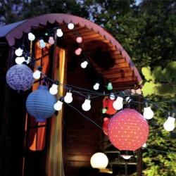 Guirlande guinguette lumineuse - ampoules blanches