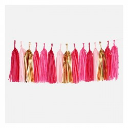 Guirlande tassel - rose party (kit DIY)