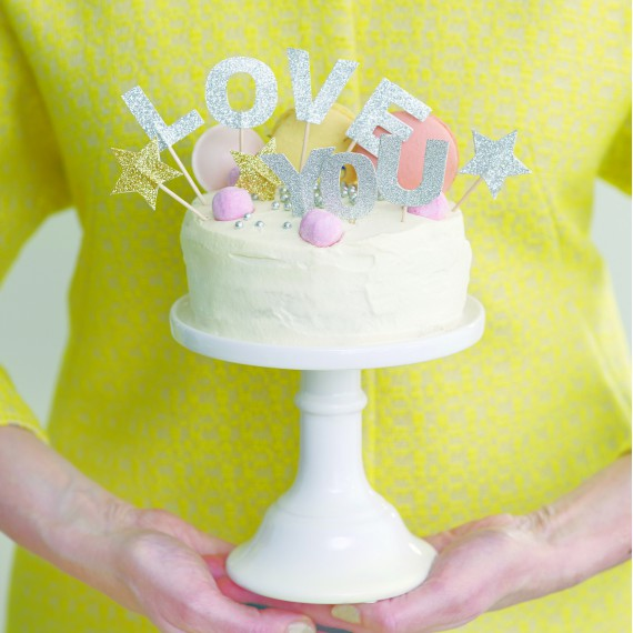 décoration gâteau cake topper LOVE YOU