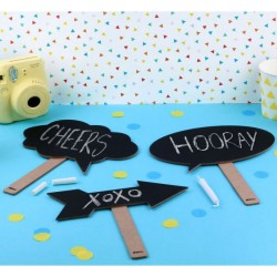Set de 3 pancartes ardoises pour photobooth