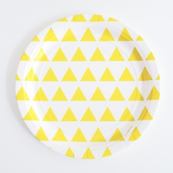 Assiettes triangle jaune