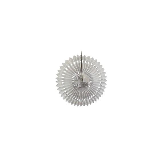 Rosace en papier 30 cm - blanc
