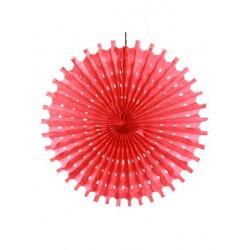 Rosace en papier 50 cm - rouge