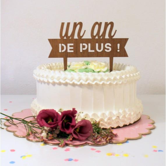 Cake topper anniversaire en bois