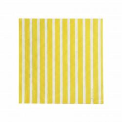 Serviettes rayures jaune