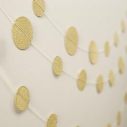 Guirlande confettis - doré et paillettes