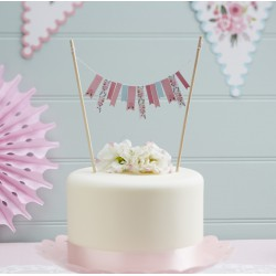 Cake topper fantaisie florale