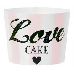 Caissette à cupcakes Love cakes - rose (par 24)