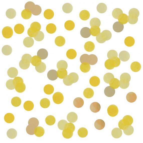 Confettis jaune et or