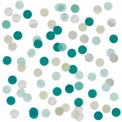 confettis vert et argent