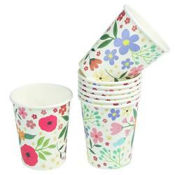 Gobelets fleuris (par 8)