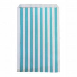 Pochettes papier - rayé bleu (par 10)