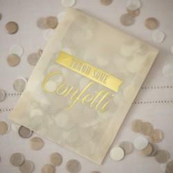 Confettis champagne et ivoire (sachet individuel)