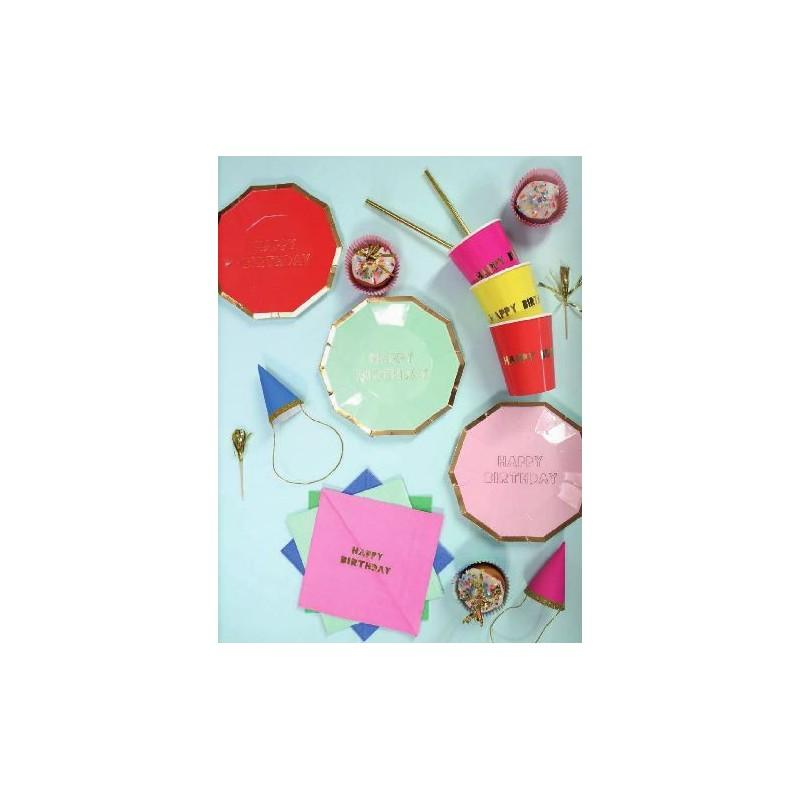 Assiette Anniversaire Multicolore (Par 8) - Modern Confetti