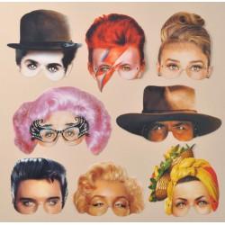 8 masques Icônes du XXème siècle