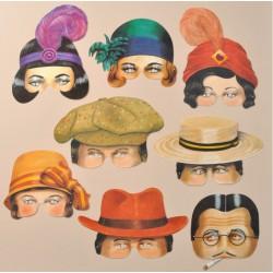 8 masques Années 20