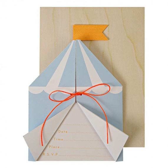 Carte invitation cirque (par 8)