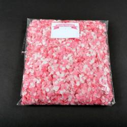 Confettis rose et blanc