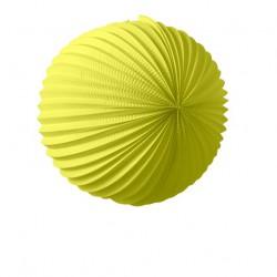 lampion rond 36 cm - jaune