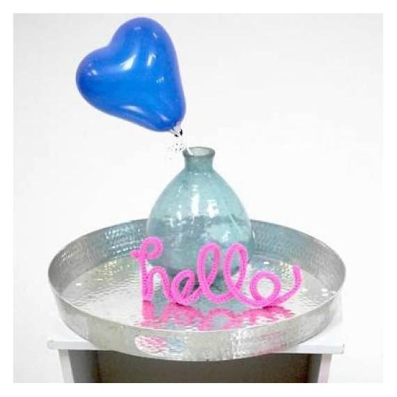 Mini ballon en forme de cœur - harmonie de bleu (par 6)
