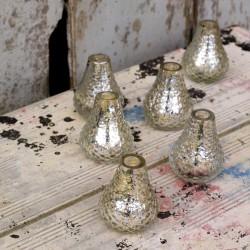 Mini vases argent (par 6)