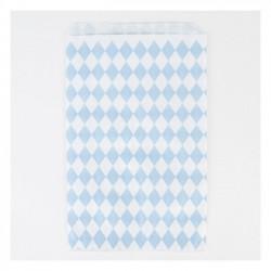 Pochettes papier - losange bleu clair (par 10)