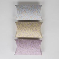 boite cadeau berlingot fleurs pastel (par 3)