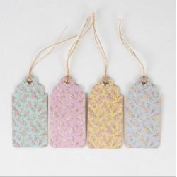 Etiquettes fleurs pastel