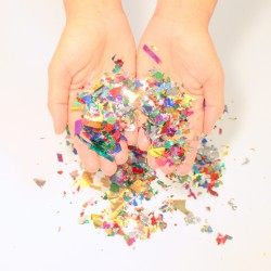 Confettis metallisés multicolores