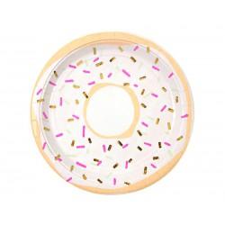 Assiette en carton donut (par 8)