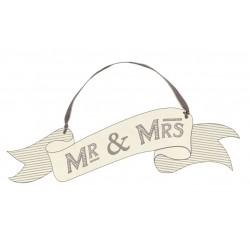 Pancarte Mrs et Mrs