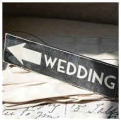 Petite pancarte signalétique wedding