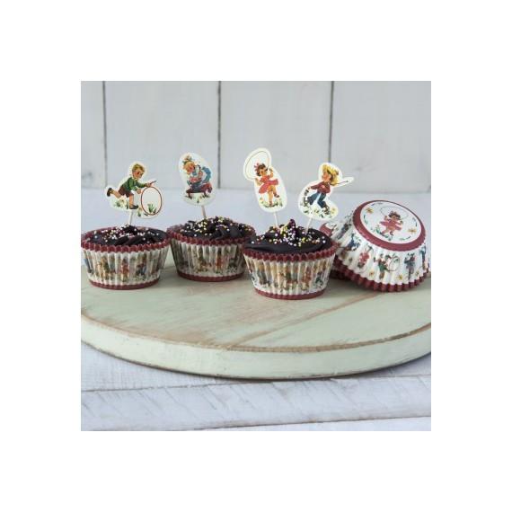 Kit cupcakes vintage pour enfant