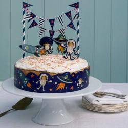 Déco de gâteau anniversaire espace