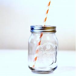 Mason Jar avec couvercle marguerite