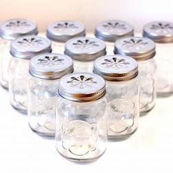 Lot de 10 bocaux style Mason Jar
