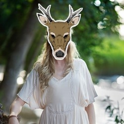 Masque photobooth animal biche