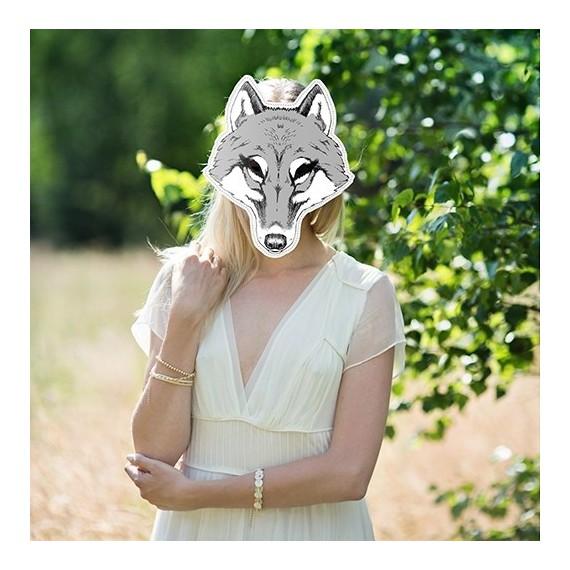 Masque photobooth animal louve