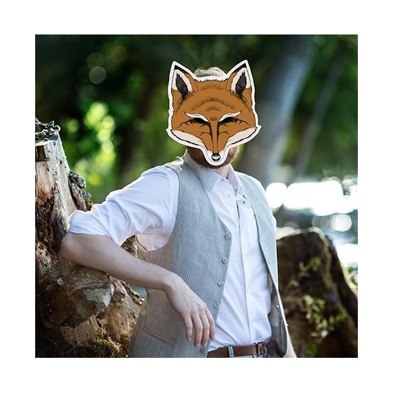 Masque photobooth animal renard